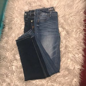 Justice Bottoms - 2 pairs of little girl jeans